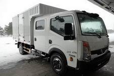郑州日产国四单桥厢式运输车131马力5吨以下(ZN5041XXYB5Z4)