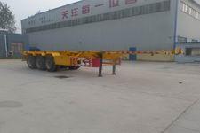 新宏东12.5米34吨3轴集装箱运输半挂车(LHD9400TJZ)