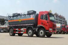 解放小三轴氧化性物品罐式运输车