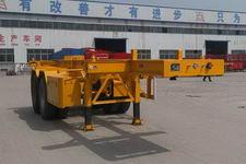 粱锋7.2米31吨2轴危险品罐箱骨架运输半挂车(LYL9350TWY)