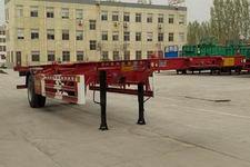 山通牌SGT9150TJZ型空载集装箱运输半挂车图片