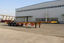 黄海14.9米34.5吨3轴集装箱运输半挂车(DD9401TJZA)