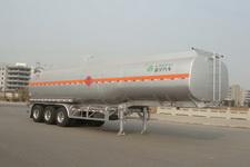 凌宇12.5米33.5吨3铝合金易燃液体罐式运输半挂车