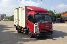 江铃汽车国四单桥厢式运输车122马力5吨以下(JX5057XXYXBD2)