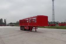 华鲁业兴10.5米33.7吨3仓栅式运输半挂车