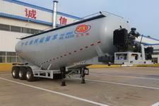 庄宇10米31.3吨3轴低密度粉粒物料运输半挂车(ZYC9400GFL)