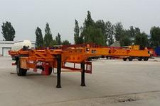 粱锋12.4米11.9吨1轴空载集装箱运输半挂车(LYL9150TJZ)