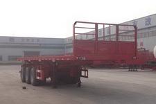 粱锋9米32.3吨3轴平板自卸半挂车(LYL9404ZZXP)
