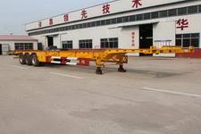 庄宇15米34.5吨3轴集装箱运输半挂车(ZYC9401TJZ)