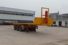 豫前通8米31.5吨3轴平板自卸半挂车(HQJ9400ZZXP)