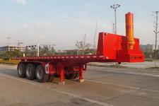 鸿盛业骏8米31.8吨3轴平板自卸半挂车(HSY9400ZZXP)