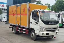 程力威牌CLW5042XRQB5型易燃气体厢式运输车