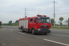 江特牌JDF5163GXFSG50型水罐消防车