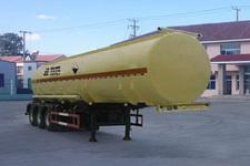 华昌11米32吨3轴腐蚀性物品罐式运输半挂车(QDJ9402GFW)