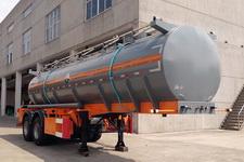 锡宇9.3米21.5吨2轴腐蚀性物品罐式运输半挂车(WXQ9290GFW)