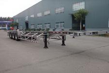 明航牌ZPS9400TJZ型铝合金集装箱运输半挂车图片