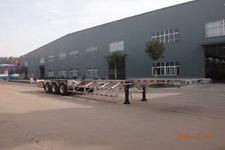 明航牌ZPS9401TJZ型铝合金集装箱运输半挂车图片