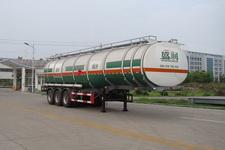 盛润牌SKW9406GYYA型铝合金运油半挂车图片