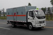 福田奥铃国五易燃液体厢式运输车