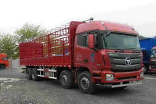 福田欧曼国四前四后八仓栅式运输车290-310马力15-20吨(BJ5319CCY-XJ)