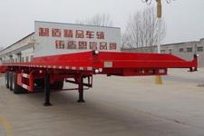 恩信事业牌HEX9403ZZXPE型平板自卸半挂车图片