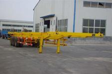 新科牌LXK9370TJZG型骨架式集装箱运输半挂车图片