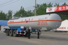 程力威牌CLW9401GRY型易燃液体罐式运输半挂车