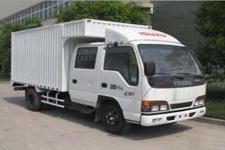 庆铃国四单桥厢式运输车98马力5吨以下(QL5040XXY3HWR)