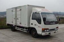 庆铃国四单桥厢式运输车98马力5吨以下(QL5040XXY3HAR)