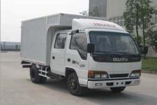 庆铃国四单桥厢式运输车98马力5吨以下(QL5040XXY3FWR)