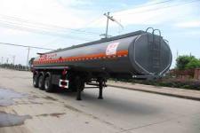 楚飞11米30.5吨3轴易燃液体罐式运输半挂车(CLQ9401GRY)