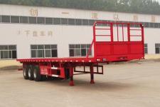 粱锋12.5米34.5吨3轴平板运输半挂车(LYL9401TPB)
