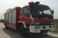 捷达消防牌SJD5141TXFJY75/W型抢险救援消防车图片