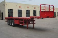 鲁岳牌LHX9400TPBE型平板运输半挂车