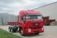 红岩牌CQ4256HTG384TC型集装箱半挂牵引车图片