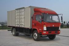 重汽HOWO轻卡国四单桥厢式运输车156马力5-10吨(ZZ5137XXYF421CD1)