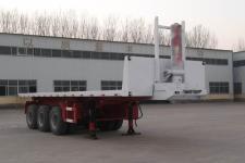 粱锋8米33.4吨3轴平板自卸半挂车(LYL9401ZZXP)