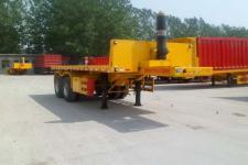 劲越7.7米29吨2轴平板自卸半挂车(LYD9350ZZXP)