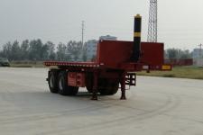 华鲁业兴7.7米29.9吨2轴平板自卸半挂车(HYX9350ZZXP)