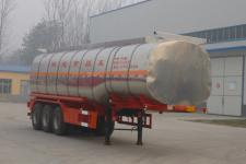 华鲁业兴11.2米30.4吨3轴液态食品运输半挂车(HYX9401GYS)