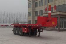 坤博9.5米31.5吨3轴平板自卸半挂车(LKB9401ZZXP)
