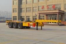 坤博9.9米34.3吨3轴集装箱运输半挂车(LKB9401TJZE)