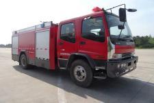 天河牌LLX5164GXFAP50/L型A类泡沫消防车图片