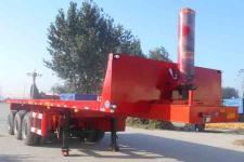 龙亿达9.5米32.5吨3轴平板自卸半挂车(CYL9402ZZXP)