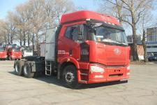 解放牌CA4250P66T1A3E22M5型平头天然气半挂牵引汽车图片