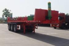 骏通9米32.5吨3轴平板自卸半挂车(JF9400ZZXP)