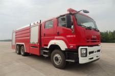 金盛盾牌JDX5270GXFPM120/W型泡沫消防车
