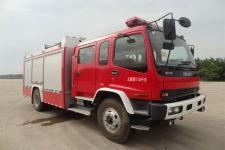 金盛盾牌JDX5150GXFPM50/W型泡沫消防车