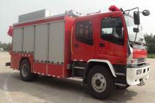 捷达消防牌SJD5143TXFJY75/W型抢险救援消防车图片