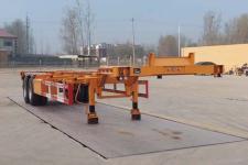 粱锋12.5米30.5吨2轴危险品罐箱骨架运输半挂车(LYL9352TWY)